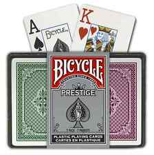 Bicycle Prestige Plastic Bridge 2 set Playing Cards jumbo index NEW No Outer Box