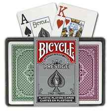 Bicycle Prestige Plastic Bridge 2 set Playing Cards jumbo index NEW SEALED