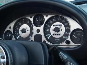 Instrument panel, Mazda MX-5 mk1 MX5 +HRW, s/s dial surround trim JASS stainless