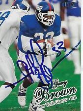 GARY BROWN SIGNED 1998 FLEER ULTRA #246 - NEW YORK GIANTS