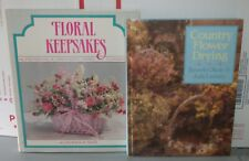 Set of 2 Country Flower Drying & Floral Keepsakes Hc 1988 1990