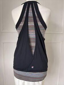 Sweaty Betty Sports Training Gym Workout Vest Layered Top Size XS Black + Multi