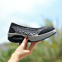 Women's Air Cushion Slip-On Shoes Sport Running Breathable Mesh Walking Sneakers