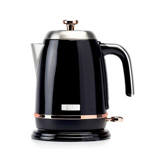 Haden Salcombe Black & Copper Kettle Fast Boil 1.7ltr