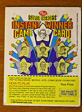 1980 Post Cereal Super Heroes Game Card DC Comics Scratched No Prize (no value)