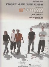 These Are The Days - O Town - 2002 US Sheet Music