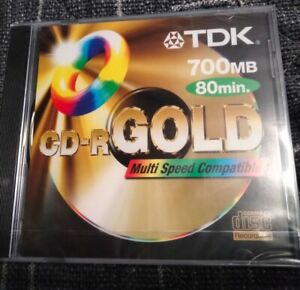 TDK CD-R Gold 700Mb 80 Min Blank Brand New & Sealed Multi Speed Compatible