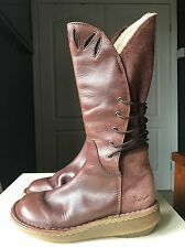 Dr Martens Designer Ladies Women Calf/Knee High Shoe Flat Leather Boot Size 3 36