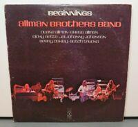 ALLMAN BROTHERS BAND BEGINNINGS (VG+) SD-2-805 LP VINYL RECORD