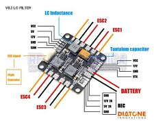 Diatone V8.3 LC Filter Power PDB Board HUB Low Ripple Current Series For RC Mult