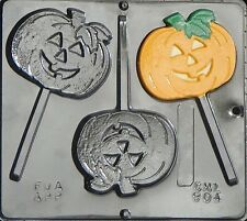 Flat Pumpkin Lollipop Chocolate Candy Mold Halloween 904 NEW
