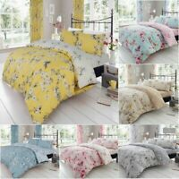 Luxury birdie blossom Duvet /Quilt Cover  Reversible Bed  Set with Pillow Cases
