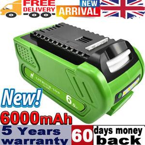 6.0Ah 40V Li-ion Battery For Greenworks G-MAX 29472 29462 25322 25223 21242 OH