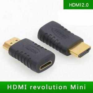 1080P HDTV HDMI Male - Mini HDMI Female Full HDMI Adapter Converter Gold Plated