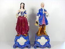 Rare couple figurines statuettes porcelaine Paris 44 cm 5.2 kg Jacob Petit