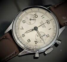 Vintage Fludo Round Button Chronograph Men's Watch Landeron 48