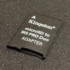 KINGSTON MICRO SD TO MS DUO ADAPTER FOR SONY PSP SONY CAMERA SONY HANDYCAM