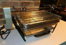 Farberware Indoor Electric Rotisserie Grill & Shish Kebab lot HD 450 Vintage LN