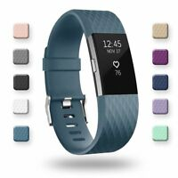For Fitbit Charge 2 Replacement Wristband Wrist Strap Smart Watch Band S L Slate