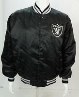 Vintage Oakland Raiders Satin Jacket Locker Line Men's Black L