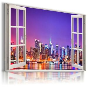 """3D TOKIO Window View Canvas Wall Art Picture Large SIZE 30X20"""""""