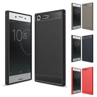 For Sony Xperia XZ Premium Case, Shockproof TPU Carbon Fiber Protective Cover