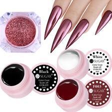 4Pcs Nail Glitter Powder Mirror Rose Gold Nail Art UV Gel Polish Kit UR SUGAR