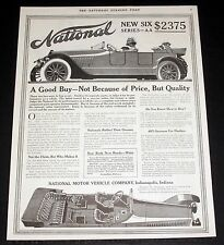 1914 OLD MAGAZINE PRINT AD, NATIONAL, NEW SIX, A GOOD BUY - BECAUSE OF QUALITY!