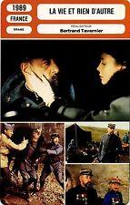 Movie Card Fiche Cinéma. la vie et rien d'autre (France) Bertrand Tavernier 1989