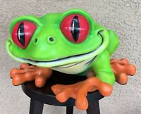 Vtg '00 CHA-CHA THE TREE FROG Very Rare Iconic Rainforest Cafe LARGE Statue