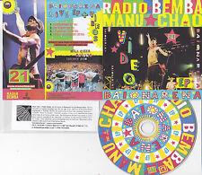 MANU CHAO RADIO BEMBA BAIONARENA LIVE RARE 4 TRACK PROMO EP CD