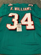 6c3ead1a4 RICKY WILLIAMS AUTOGRAPHED SIGNED MIAMI DOLPHINS JERSEY JSA COA