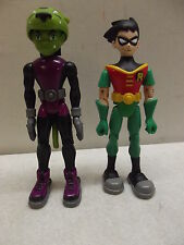 "2003 DC COMICS BANDAI TEEN TITANS ROBIN & BEAST BOY 5"" ACTION FIGURES"