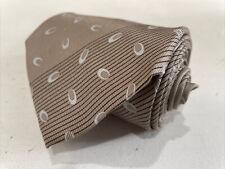 Giorgio Armani ITALY Men's Beige Gray Stripe Silk Neck Tie $185