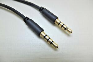 2 m 4-polig Auxkabel, Kopfhörer Kabel, Aux Kabel Verstärker Kabel Tonkabel