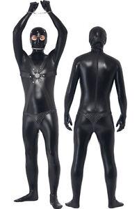 Top Totty Men Gimp Latex Catsuit Bodysuit Full Cover