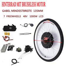 "48V 1000W 28"" Zoll LCD E-bike Conversion Kit Elektrofahrrad Hinterrad Umbausatz"