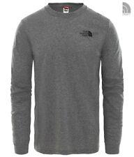 The North Face sencillo domo Tee camiseta de manga larga m gris brezo
