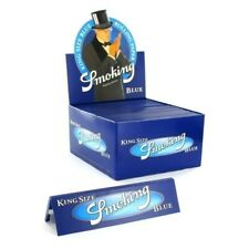 SMOKING KING SIZE ROLLING PAPERS BLUE THIN PAPERS SLIM KING SIZE BLUE PAPERS BOX