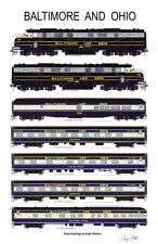 "Baltimore & Ohio Capitol Limited 11""x17"" Poster by Andy Fletcher signed"