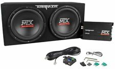 "MTX Terminator TNP212D2 1200 Watt 2 Ohm Dual 12"" Subwoofers/Sub Box/Amp Package"