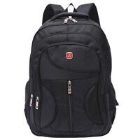 Large Capacity AU Men Black Backpack Nylon Laptop Notebook Waterproof Travel Bag