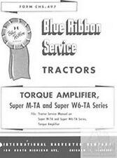 International Farmall Torque Amplifier Service Manual Super M-TA W6-TA MTA W6TA