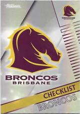 2018 NRL Traders Pearl Parallel (PS001) BRONCOS Checklist