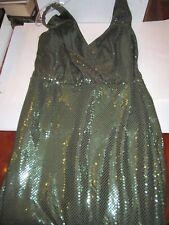 EMERALD GREEN SEQUIN BALL GOWN DRESS - SHERRIE BLOOM CHETTA B - SIZE 12