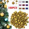 100 Stück Christbaumkugeln Dekorationen Baubles Pack hängende Kugel Decke Dekor