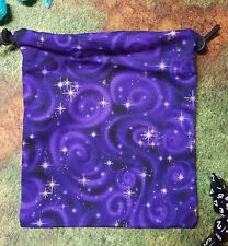 Purple Starry Sky dice bag, card bag, makeup bag