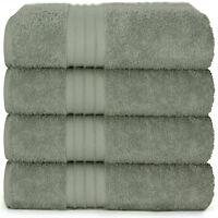 4-Piece Bath Towels Set for Bathroom | 100% Soft Cotton Turkish Towels - Green