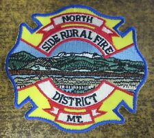 NORTH SIDE RURAL FIRE DISTRICT MONTANA FIRE/RESCUE DEPARTMENT PATCH!