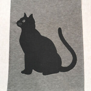 Leinen Geschirrtuch Küchentuch G - Cat 50 cm x 70 cm silber DRIESSEN LEINEN
